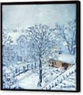 Ice White Canvas Print