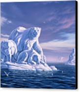 Icebeargs Canvas Print by Jerry LoFaro
