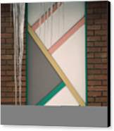 Icicles 3 - In Front Of Architectural Design Off Red Brick Bldg. Canvas Print