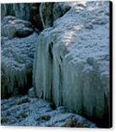 Icicles On The Rocks Canvas Print