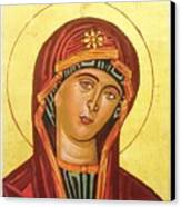 Icon Of The Virgin Mary. Canvas Print by Anastasis  Anastasi