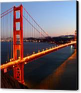 Iconic Golden Gate Bridge In San Francisco Canvas Print by Pierre Leclerc Photography