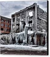 Icy Remains - After The Fire Canvas Print by Jeff Swanson