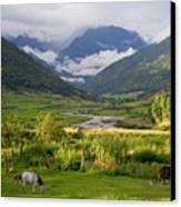 Idyllic Landscape Arunachal Pradesh Canvas Print