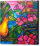 Iguana Eco Tour Canvas Print by Patti Schermerhorn