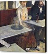 In A Cafe Canvas Print by Edgar Degas