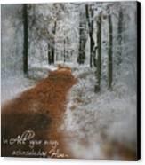 In All Your Ways Canvas Print by Debra Straub