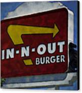 In-n-out Canvas Print by Ricky Barnard