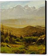 In The Foothills Of The Rockies Canvas Print by Albert Bierstadt