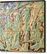 In The Green Mist Canvas Print by Raimonda Jatkeviciute-Kasparaviciene
