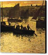 In The Port Canvas Print by Charles Cottet