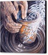 In The Potter's Hands Canvas Print