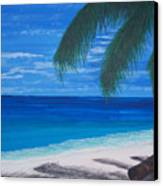 In The Shade Of A Palm Canvas Print