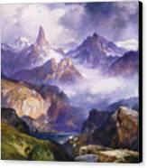 Index Peak Yellowstone National Park Canvas Print by Thomas Moran