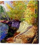 Indiana Creek Bank Canvas Print