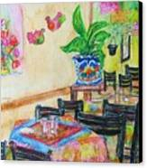 Indoor Cafe - Gifted Canvas Print