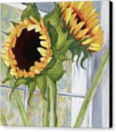 Indoor Sunflowers II Canvas Print