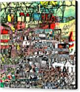 Industrial Complex  Canvas Print