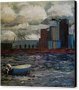 Industrial Fishing Canvas Print