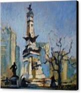 Indy Circle Monument Canvas Print by Donna Shortt