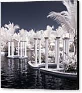 Infrared Pool Canvas Print by Adam Romanowicz