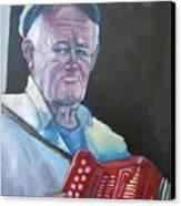 Inis Mor Accordian Player Canvas Print