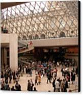 Inside Louvre Museum Pyramid Canvas Print by Mark Czerniec