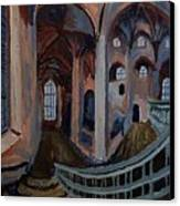 Inside The Church Canvas Print