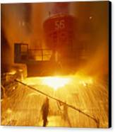 Inside The East-slovakian Steel Mill Canvas Print by James L. Stanfield