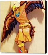 Intarsia Eagle Dancer Canvas Print by Russell Ellingsworth