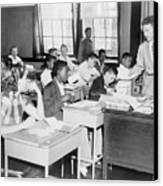 Integrated Classroom In Washington Canvas Print by Everett