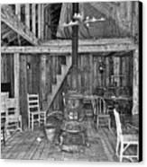 Interior Criterion Hall Saloon - Montana Territory Canvas Print by Daniel Hagerman