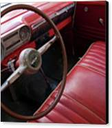 Interior Of A Classic American Car Canvas Print by Sami Sarkis