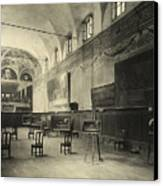Interior Of The Dining Hall Of The Church Of Santa Maria Delle Grazie Milan Canvas Print by Alinari