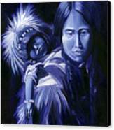 Inuit Mother And Child Canvas Print