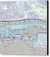 Invesco Field Canvas Print by Lenore Senior