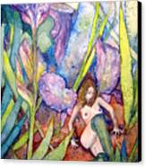 Iris Grantor Of Hope Wisdom And Inspiration - Watercolor Canvas Print