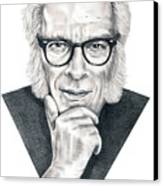 Isaac Asimov Canvas Print by Murphy Elliott
