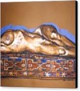 Isabel On Afghan Carpet Canvas Print