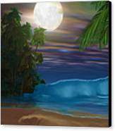 Island Beach Canvas Print by Corey Ford