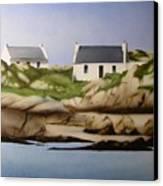 Island Cottages Canvas Print