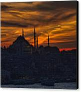 Istanbul Sunset - A Call To Prayer Canvas Print by David Smith