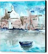 Italian Coast  Canvas Print by Alexandra-Emily Kokova