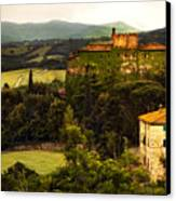 Italian Castle And Landscape Canvas Print by Marilyn Hunt