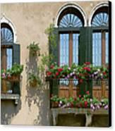 Italian Windows Canvas Print