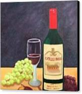 Italian Wine And Fruit Canvas Print