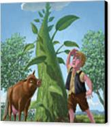 Jack And The Beanstalk Canvas Print by Martin Davey