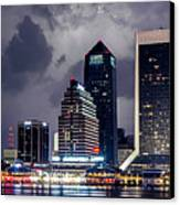 Jacksonville On A Stormy Evening Canvas Print by J T