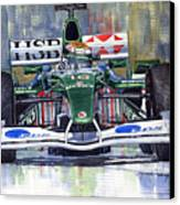 Jaguar R3 Cosworth F1 2002 Eddie Irvine Canvas Print by Yuriy  Shevchuk