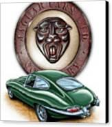 Jaguar Xke British Racing Green Canvas Print by David Kyte